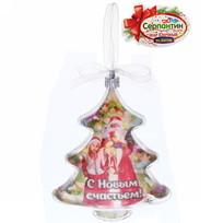 Игрушка-ёлочка ″С Новым счастьем!″, Дед Мороз и внучка купить оптом и в розницу