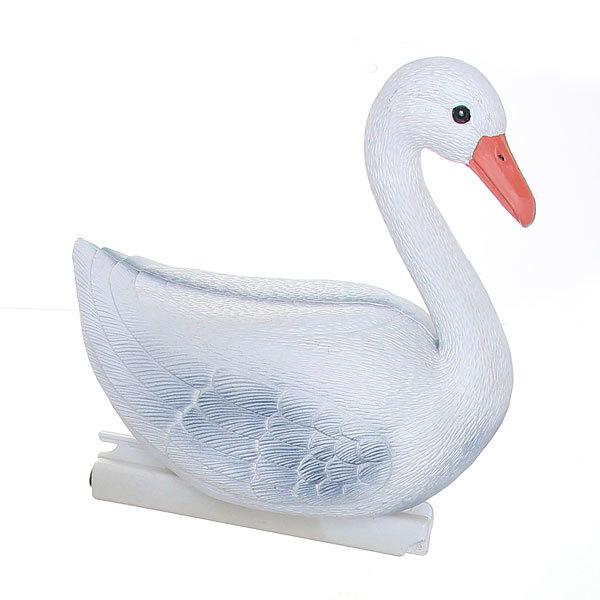 Фигура садовая плавающая ″Лебедь бело-серый″ (31 х 27см) (258) купить оптом и в розницу
