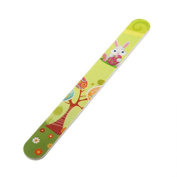 Пилка для ногтей наждачная в пакете прямая ″Эстетика″, рисунок зайка, цвет микс,17,5*2см купить оптом и в розницу