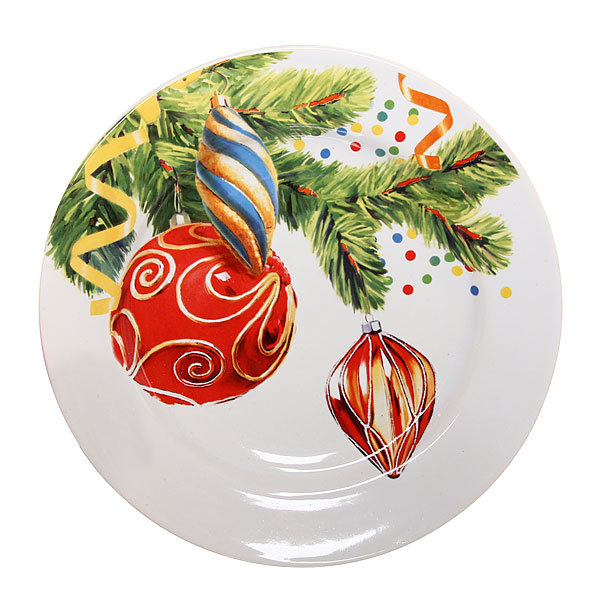 Тарелка керамическая 20см ″Новогодняя ёлочка″ купить оптом и в розницу
