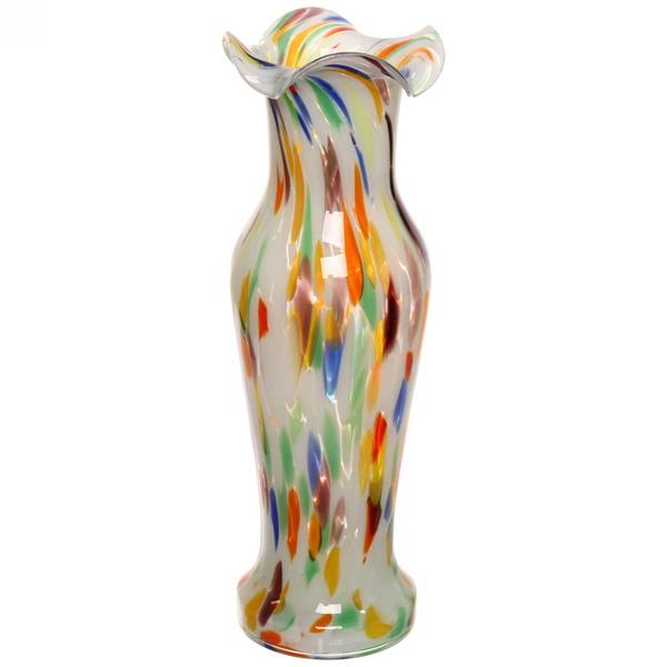 Ваза h=40см стеклокрошка разноцветная купить оптом и в розницу