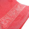 Махровое полотенце 50*90см карамельный розовый с бордюром купить оптом и в розницу