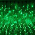 Занавес светодиодный уличный ш 2 * в 6м, 864 лампы LED, ″Дождь″, Зеленый, 8 реж, черн.пров купить оптом и в розницу
