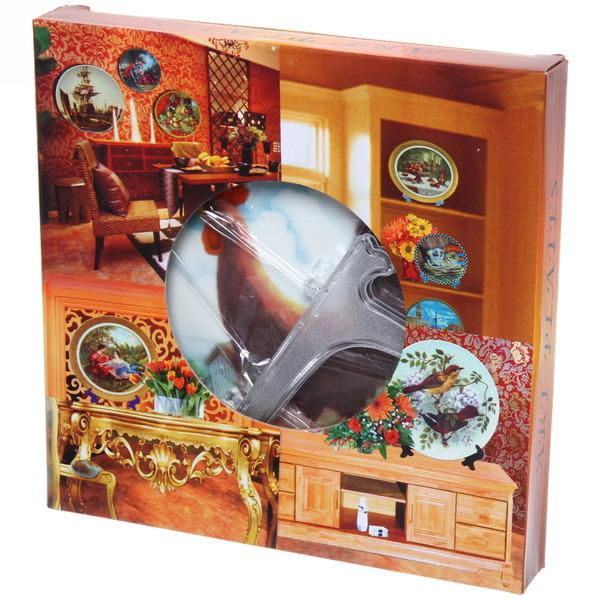 Тарелка керамическая 20см ″Петух в деревне″ купить оптом и в розницу