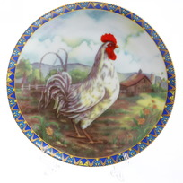 Тарелка керамическая 20см ″Петух в траве″ купить оптом и в розницу