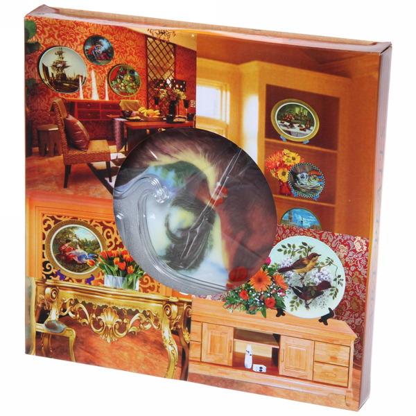 Тарелка керамическая 20см ″Петух с курицей в деревне″ купить оптом и в розницу
