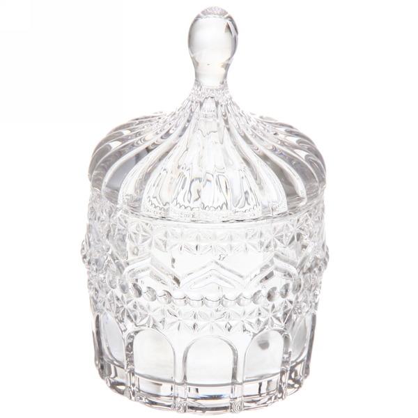 Сахарница стеклянная 200 мл ″Серебро″ купить оптом и в розницу