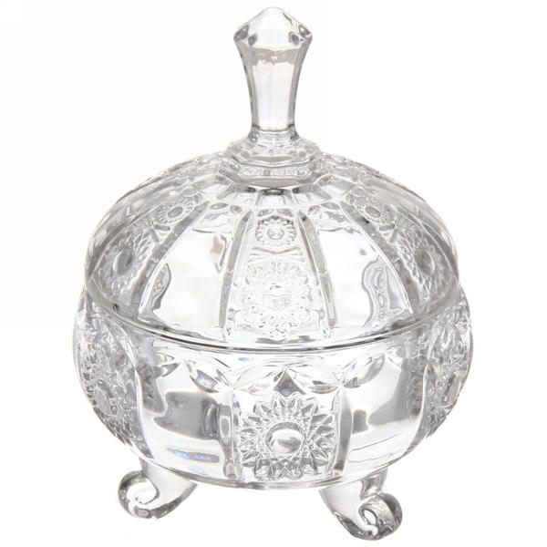 Сахарница стеклянная 250 мл ″Ажур″ 14см купить оптом и в розницу