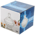 Сахарница стеклянная 250 мл ″Ажур″ TG493 купить оптом и в розницу