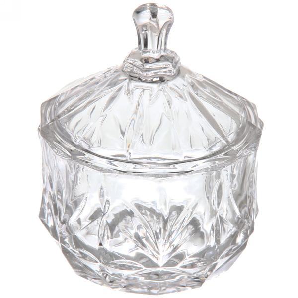 Сахарница стеклянная 250 мл ″Листики″ TG5804 купить оптом и в розницу