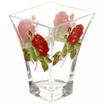 Ваза ботаника 140 мм ″Алая роза″ D80147/01 купить оптом и в розницу