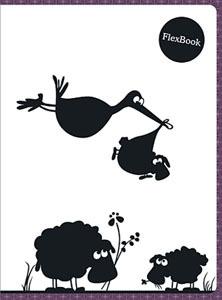 """Тетрадь 80л.кл.скрепка Flex Book, """"Animals"""" бордовая купить оптом и в розницу"""