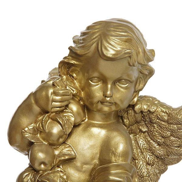 Фигурка Ангел с фруктами (золото) 48см. купить оптом и в розницу