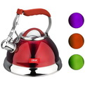 Чайник из нержавеющей стали 2,7л со свистком, разные цвета купить оптом и в розницу