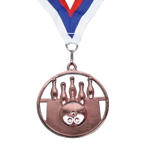 Медаль ″ Боулинг ″- 3 место (6,5см) купить оптом и в розницу