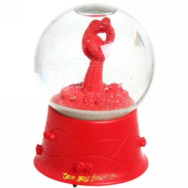 Фигурка шар с водой ″Валентинка″ с музыкой JC8007 купить оптом и в розницу