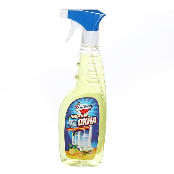Средство для мытья стекол ЗОЛУШКА Чистые окна Лимон с триггером 500мл Ч21-1 купить оптом и в розницу