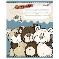 Тетрадь 12 л. клетка Любимые мишки 042639 купить оптом и в розницу
