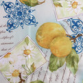 Скатерть ″Ассорти″ 120*150см полиэстер, лимоны Ультрамарин купить оптом и в розницу