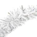 Мишура новогодняя 2 метра 9см ″Снежный блеск″ белый, серебро купить оптом и в розницу