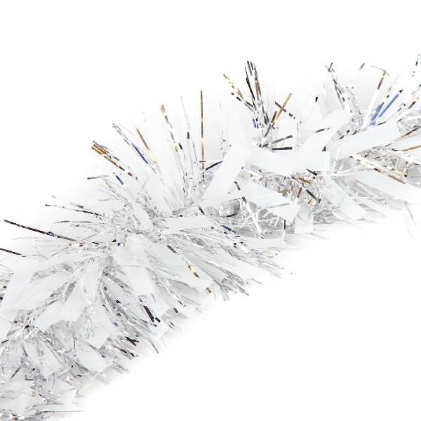 Мишура 2м 9см ″Снежный блеск″ белый, серебро купить оптом и в розницу