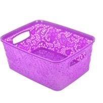 Корзинка кружевная мин  фиолетовый *36 купить оптом и в розницу