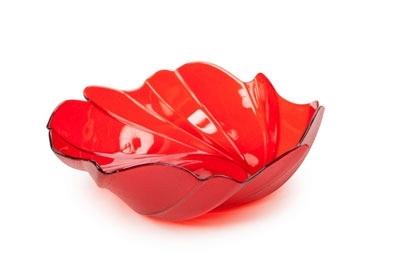 Фруктовница Акри малая (красный п/прозр.) *90 купить оптом и в розницу