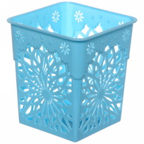 Подставка для столовых приборов ″Цветы″ 9*9*10см пластиковая купить оптом и в розницу