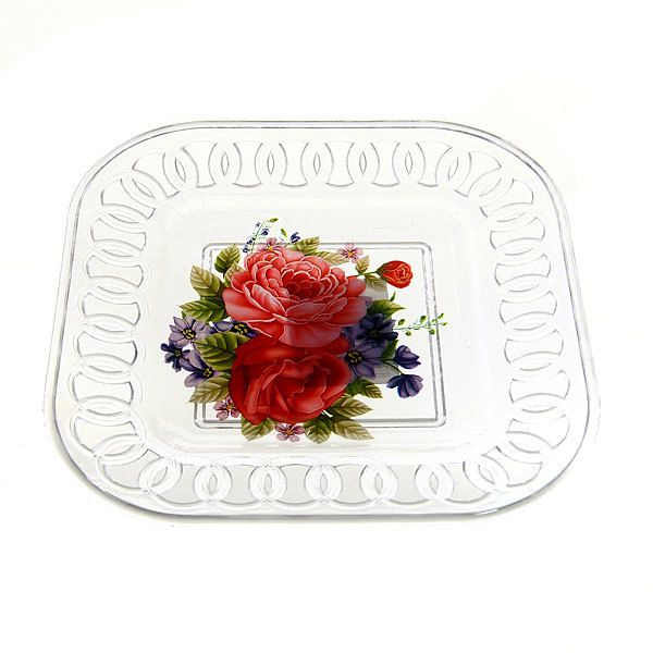 Тарелка пластиковая ″Ажурная″ 15*15 см купить оптом и в розницу