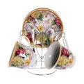 Чайный набор 4 предмета (2 кружки, 2блюдца+ложка) на металлической подставке Fc168/135-538-1(24) купить оптом и в розницу