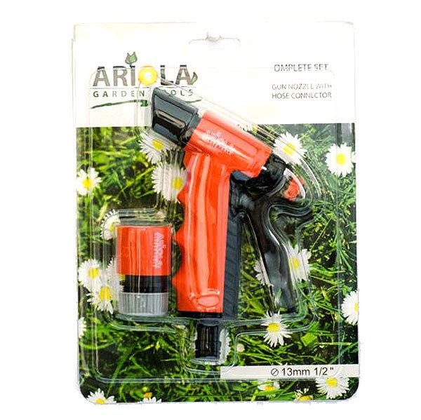 Набор для полива (Пистолет-наконечник для полива 2 позиции+коннектор 1/2″) ARIOLA Чехия купить оптом и в розницу