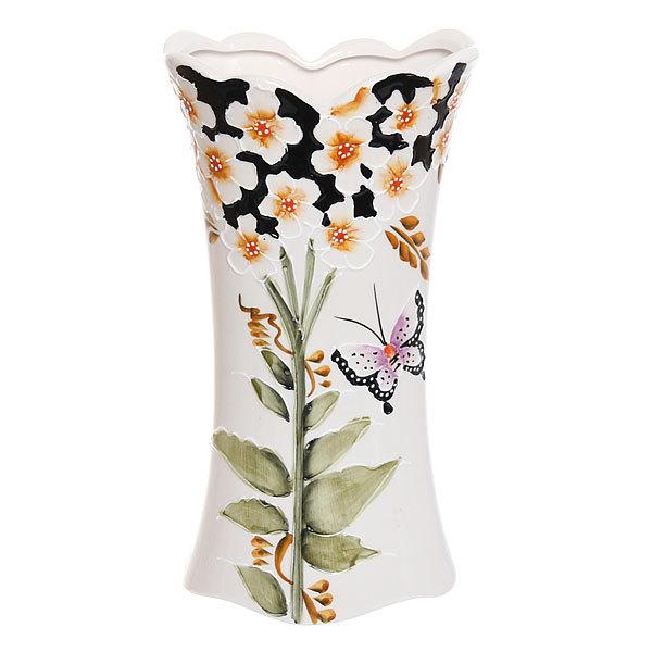 Ваза керамическая ″Бабочки″ 25 см купить оптом и в розницу