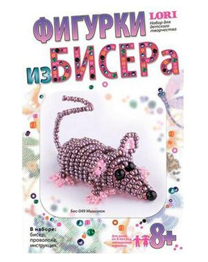"""Набор д/дет.творч.Плетение из бисера """"Мышонок"""" купить оптом и в розницу"""