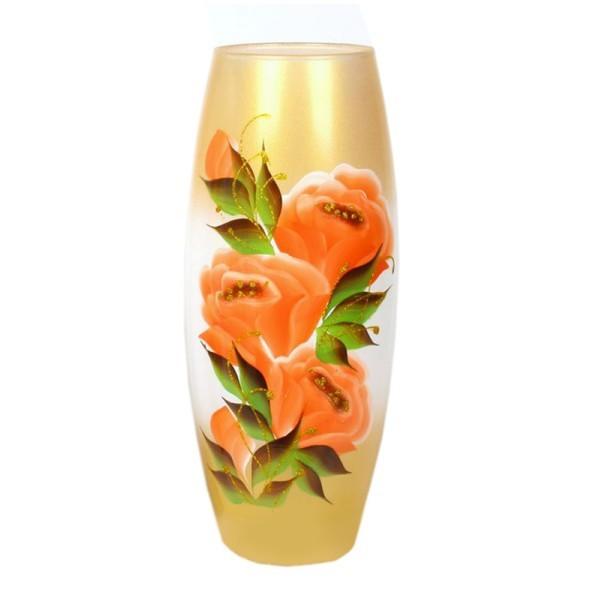 Ваза стеклянная ″ФЛОРА-Розовый сад″ 26см купить оптом и в розницу