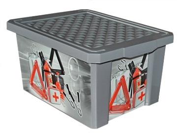 """Ящик для хранения """"X-BOX""""  Авто 12 л*4 купить оптом и в розницу"""