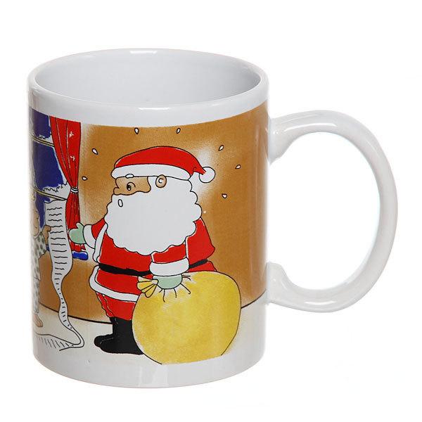 Кружка керамическая 300мл ″Дед Мороз с мешком подарков″ купить оптом и в розницу