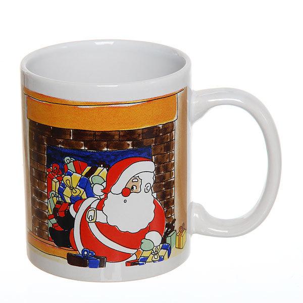 Кружка керамическая 300мл ″Дед Мороз в печке″ купить оптом и в розницу