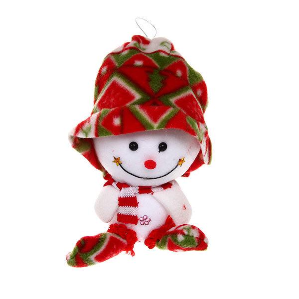 Ёлочная игрушка мягкая 19см ″Снеговичок в шарочке″ купить оптом и в розницу
