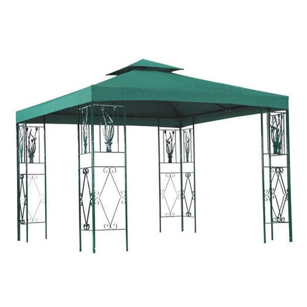 Тент-шатер составной полиэстер\металл без стенок (зелёный)HM-T014 300х300х283см купить оптом и в розницу