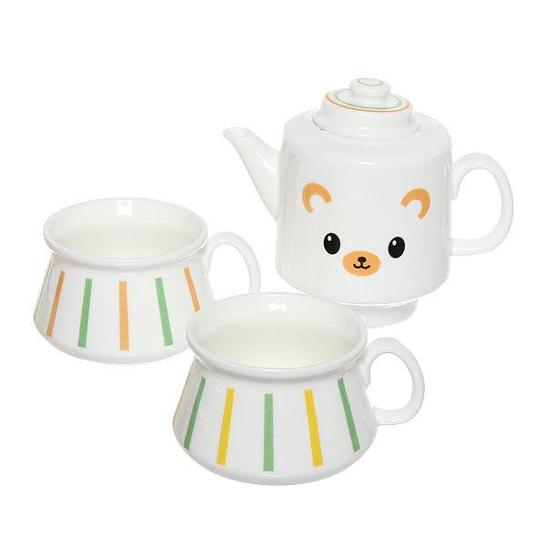 Набор чайный керамический 3 предмета (чайник500мл+2кружки 200мл) TFT014-017 купить оптом и в розницу