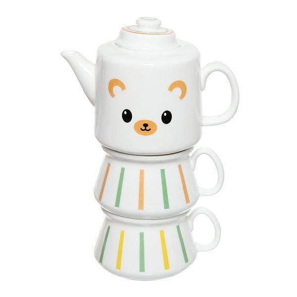 Набор чайный керамический 3 предмета (чайник500мл+2кружки 200мл)″ ″Мишка″ купить оптом и в розницу