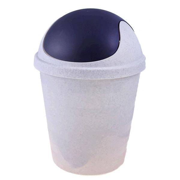 Мусорка круглая 5,5 л мраморный/темно-серый *18 купить оптом и в розницу