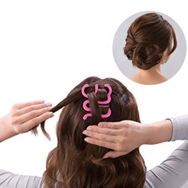 Аксессуар для плетения французской косы 6,5см, цвет микс купить оптом и в розницу