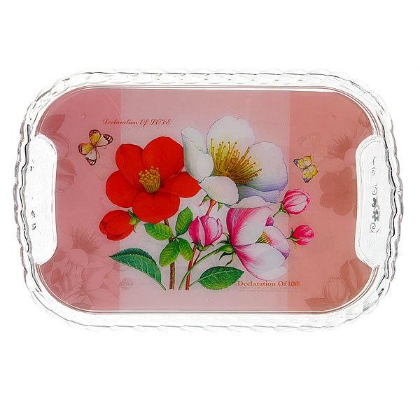 Набор подносов пластиковых ″Садовые цветы″ 3 шт купить оптом и в розницу