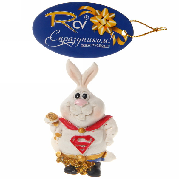 Магнит из полистоуна ″Кролик супергерой″ купить оптом и в розницу