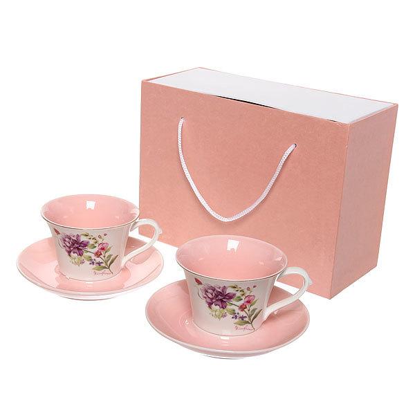 Чайный набор 4 предмета (2кружки 200мл+2блюдца ) К128-17 купить оптом и в розницу