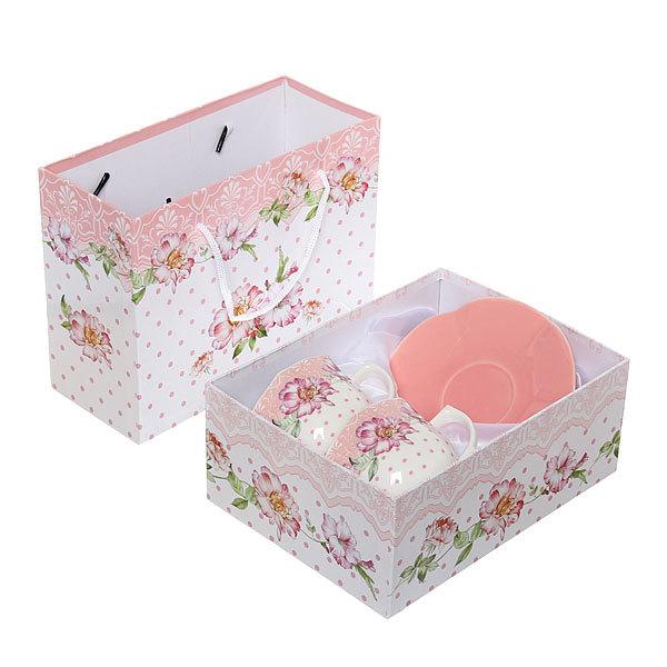Чайный набор 4 предмета (2кружки 200мл+2блюдца ) ″Романтика″ купить оптом и в розницу