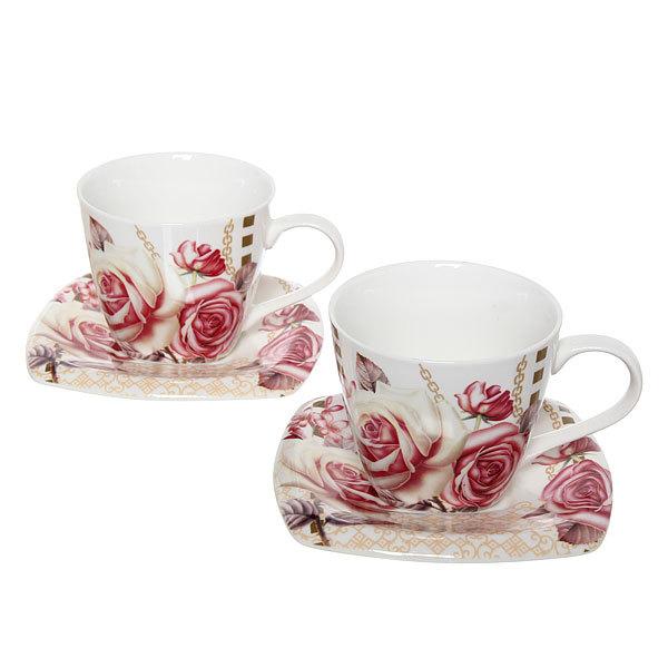 Чайный набор 4 предмета (2кружки 200мл+2блюдца ) ″Любовь″ купить оптом и в розницу