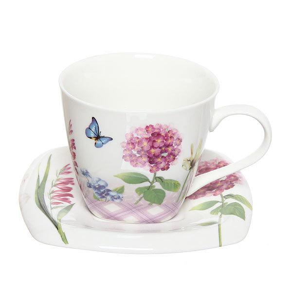 Чайный набор 4 предмета (2кружки 200мл+2блюдца ) ″Весна″ купить оптом и в розницу