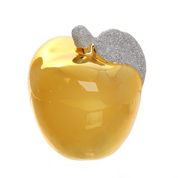 Фигурка ″Блеск Яблочко с листочком″ золото 9,5*7,5см купить оптом и в розницу